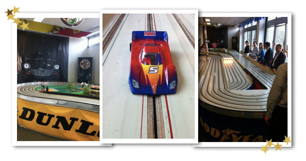 Weihnachtsfeier Miniatur Autorennen